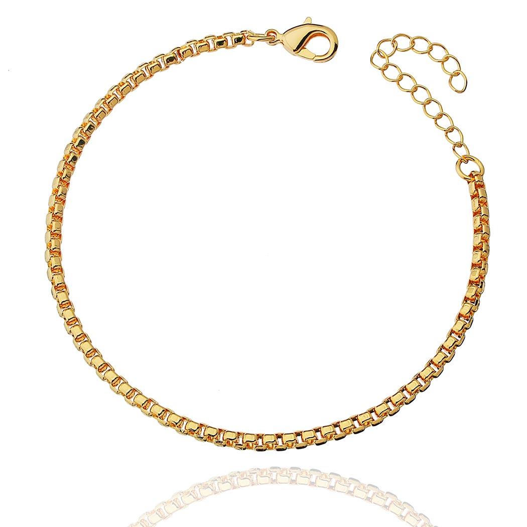 pulseira corrente veneziana grossa dourada