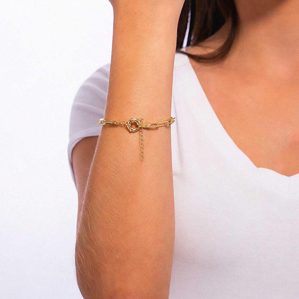 pulseira elos cartier dourada