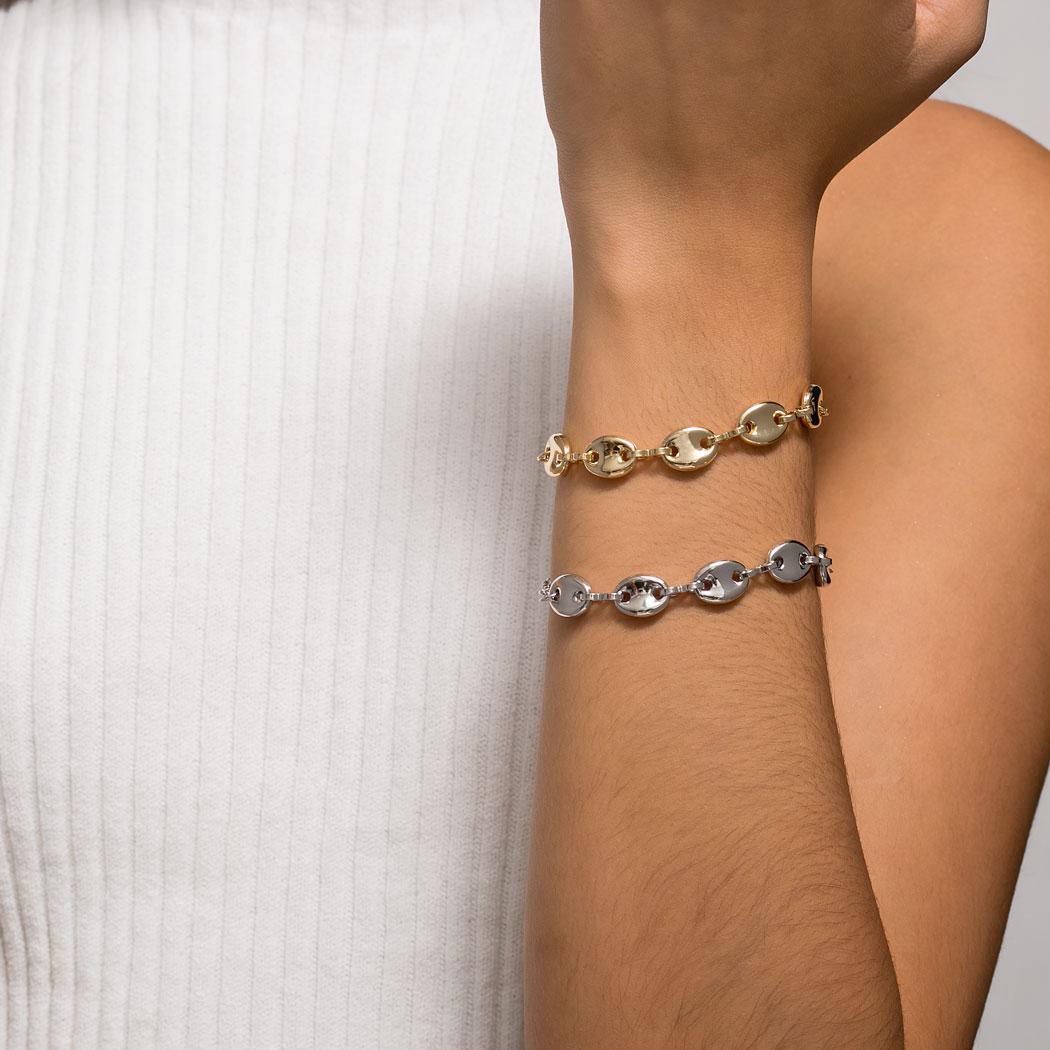 pulseira elos navy bóia ródio claro