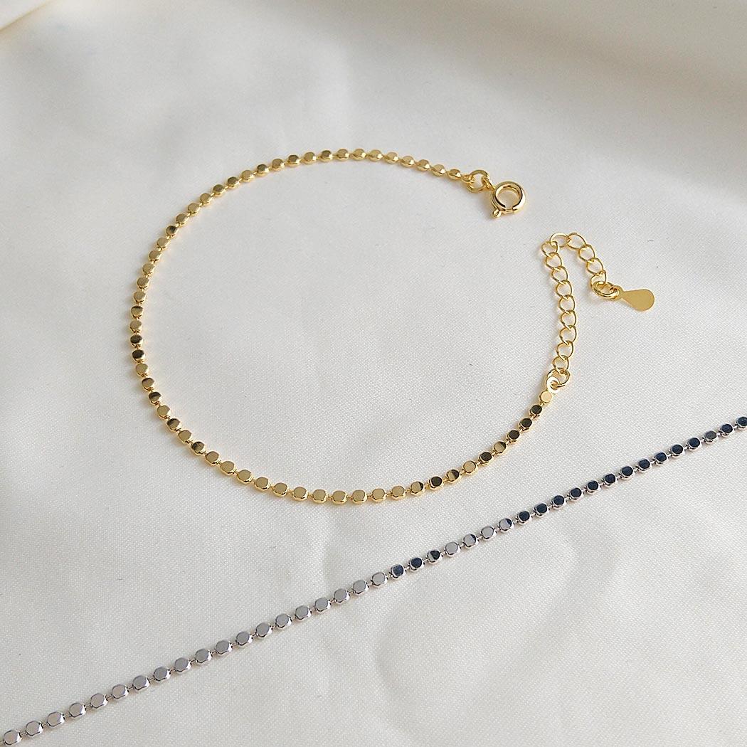 pulseira fina bolinhas dourado