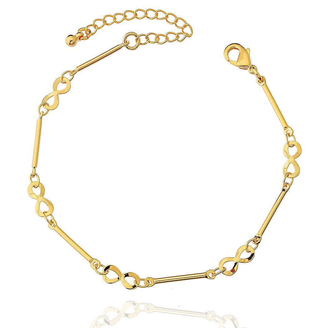 pulseira infinitos dourada