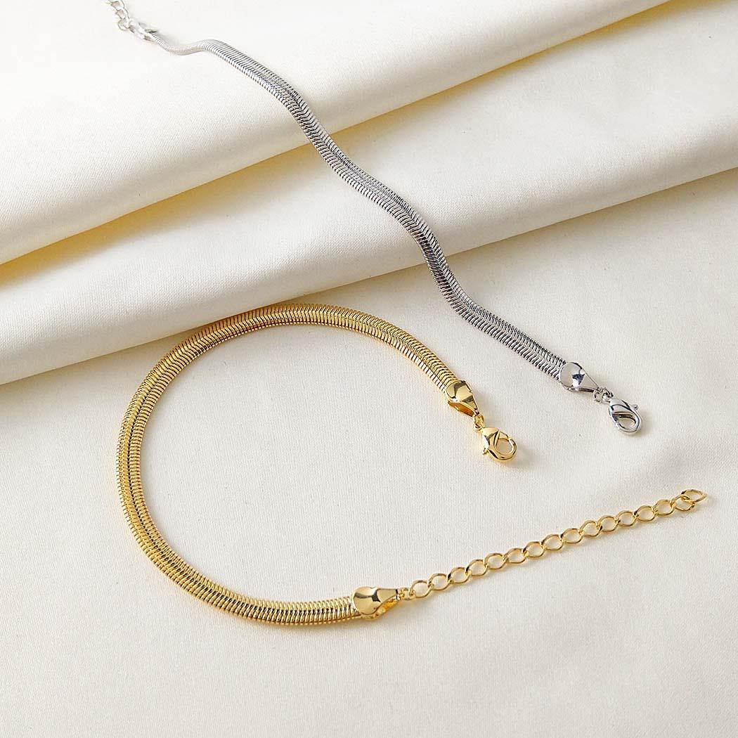 pulseira rabo de rato 4 mm dourada