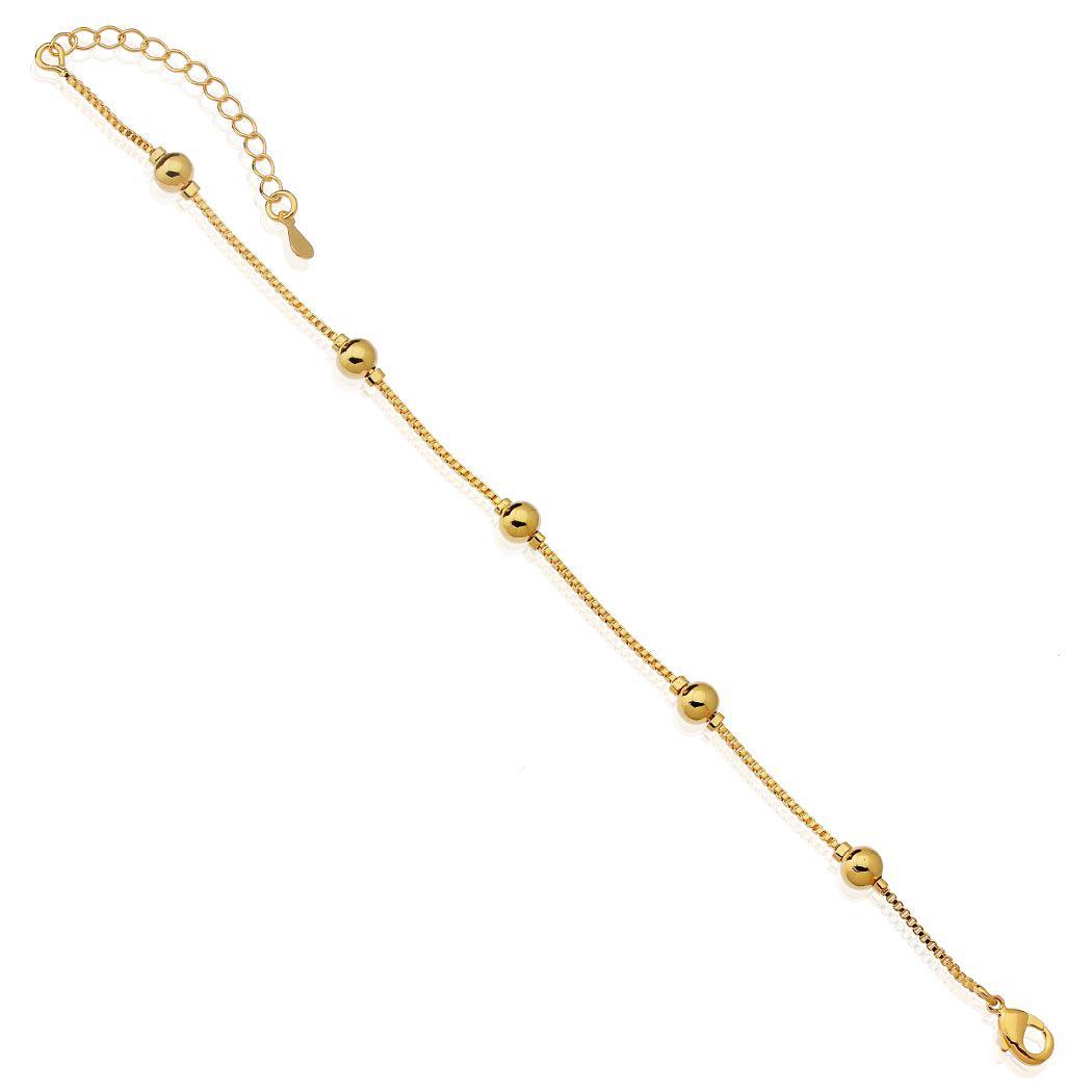 pulseira veneziana bolinhas dourada