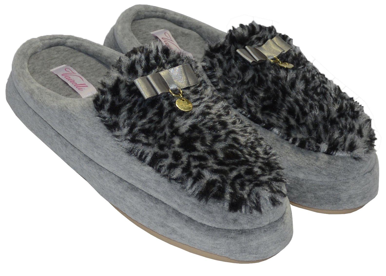 Chinelo de Quarto Feminino Vairelli Inverno em Plush Com Pele BP Super Confortável  - Vairelli Chinelos Pijamas Robes