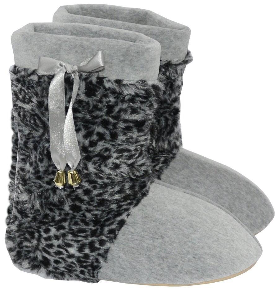 Pantufa Feminina Vairelli Inverno em Plush Com Pele XK Super Quentinha e Confortável  - Vairelli Chinelos Pijamas Robes