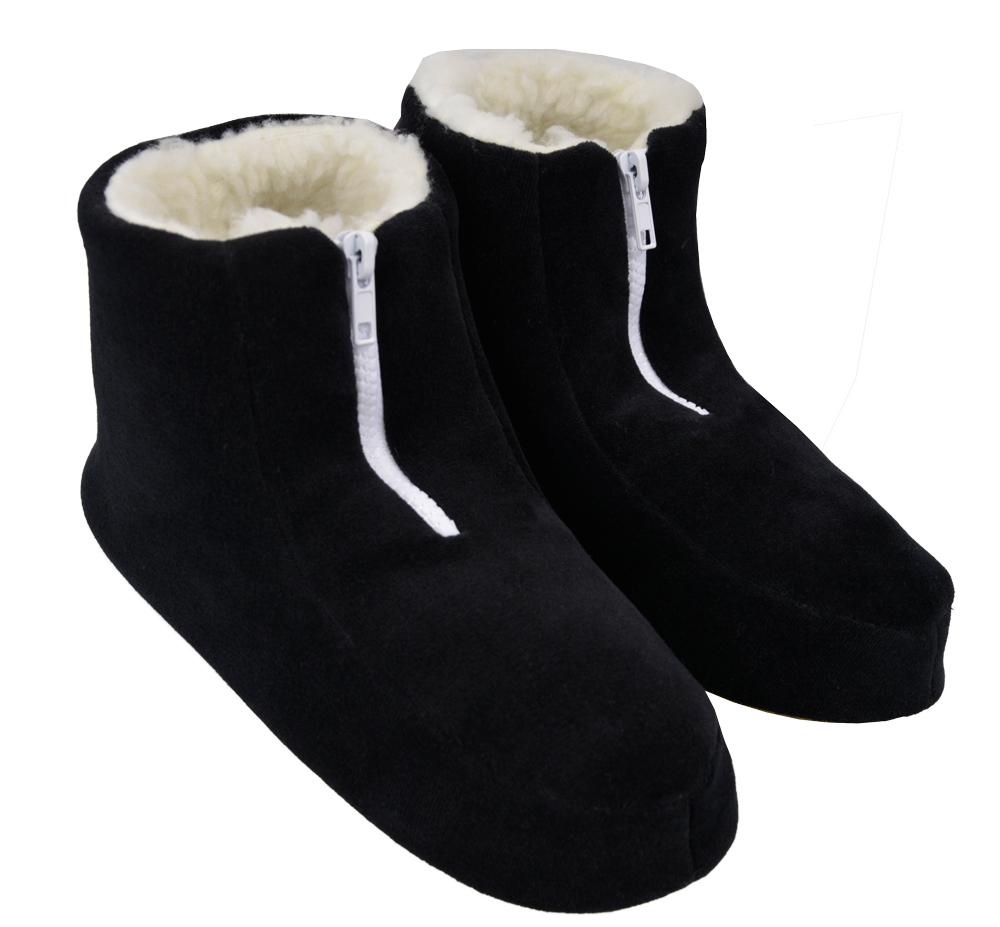Pantufa Feminina Vairelli Inverno em Plush Com Zíper XZ Super Quentinha e Confortável