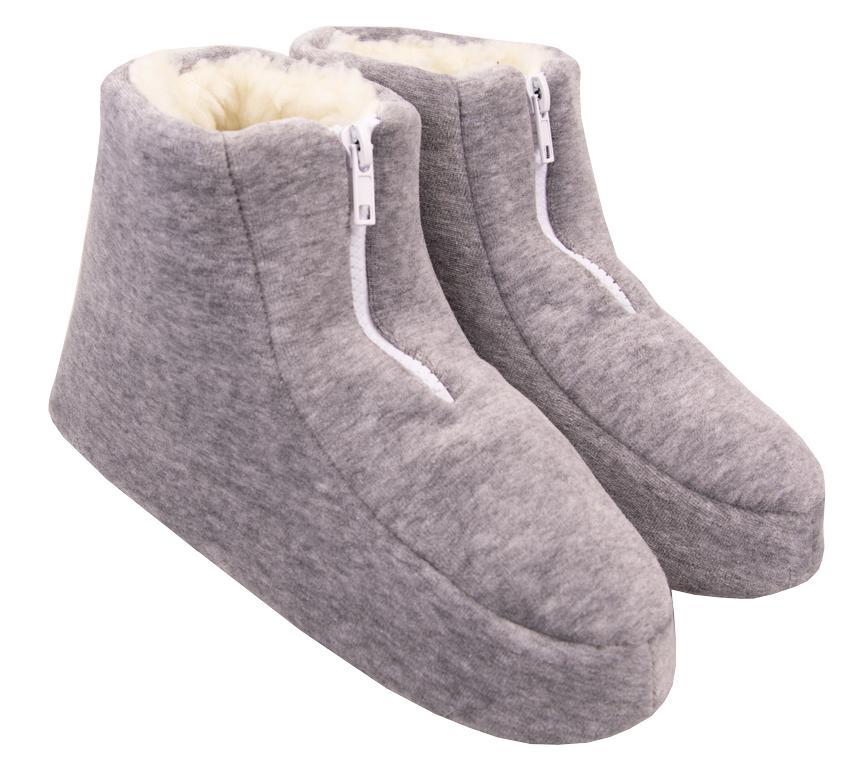 Pantufa Feminina Vairelli Inverno em Plush Com Zíper XZ Super Quentinha e Confortável  - Vairelli Chinelos Pijamas Robes