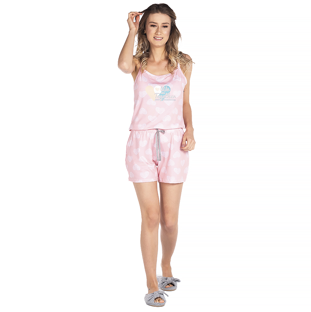 Pijama Feminino Vairelli Verão Aline  - Vairelli Chinelos Pijamas Robes