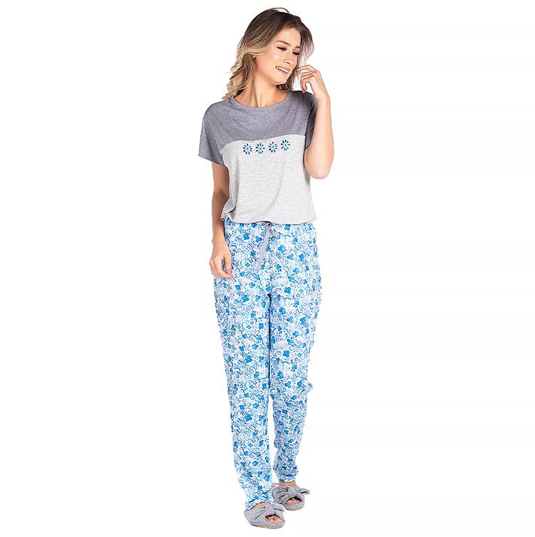 Pijama Feminino Vairelli Verão Barbará  - Vairelli Chinelos Pijamas Robes