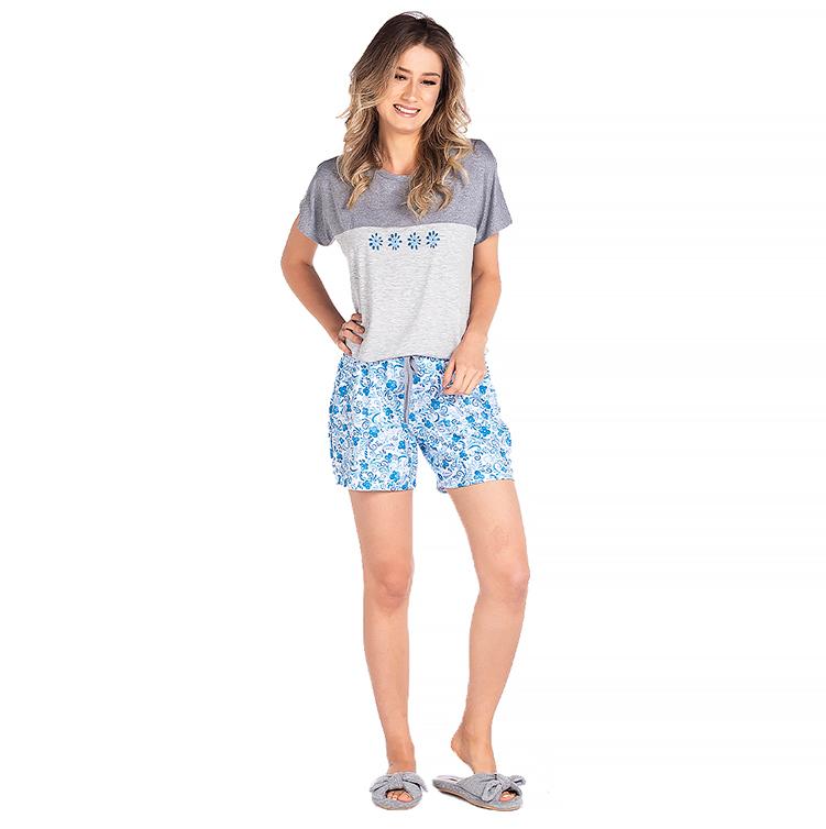 Pijama Feminino Vairelli Verão Brenda  - Vairelli Chinelos Pijamas Robes