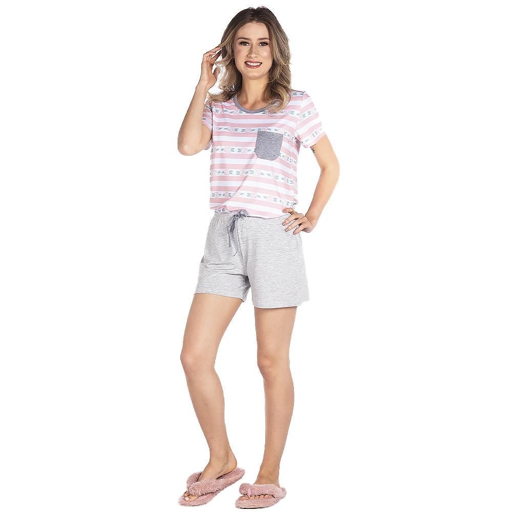 Pijama Feminino Vairelli Verão Luna  - Vairelli Chinelos Pijamas Robes