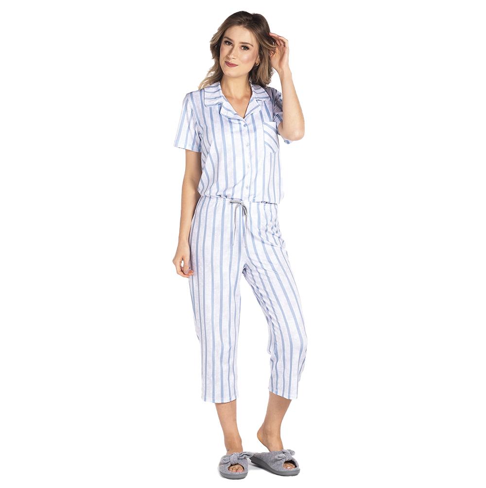 Pijama Feminino Vairelli Verão Nice  - Vairelli Chinelos Pijamas Robes