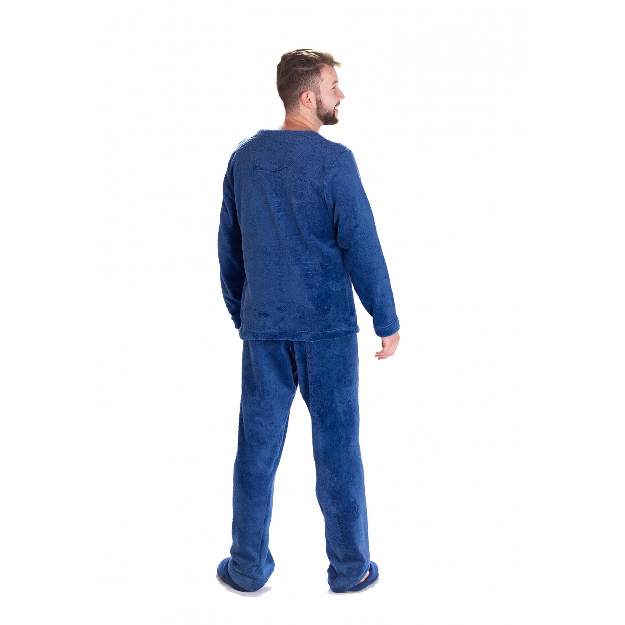 Pijama Masculino Vairelli Inverno Fleece Poliéster Alexandre  - Vairelli Chinelos Pijamas Robes