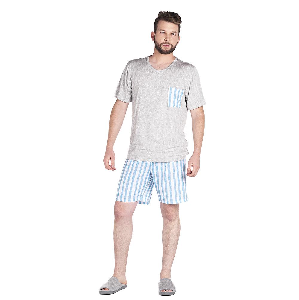 Pijama Masculino Vairelli Verão Noa  - Vairelli Chinelos Pijamas Robes