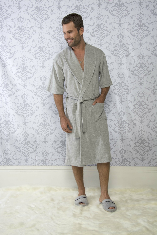 Roupão Masculino Vairelli Atoalhado Henrique  - Vairelli Chinelos Pijamas Robes