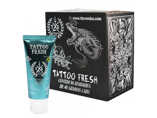 AFTERCARE GEL CICATRIZANTE TATTOO FRESH 40G TTS (CX C/ 16 UNID.)