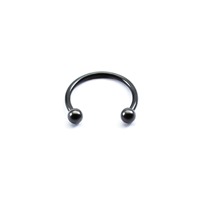 NOSTRIL BARBELL CIRCULAR BLACK 1.00MM