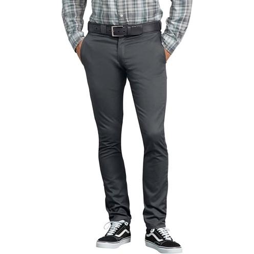 Calça Dickies Flex Skinny Straight Fit Cinza Chumbo