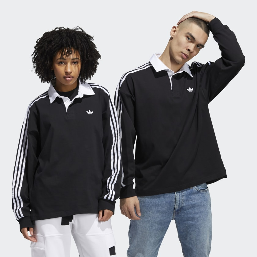 Camisa Adidas Solid Rugby Black/White