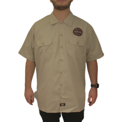 Camisa Dickies Twill Soft Areia American Patch