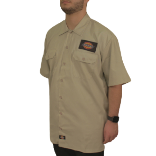 Camisa Dickies Twill Soft Areia Classic Patch