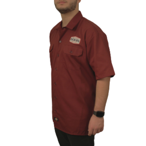 Camisa Dickies Twill Soft Bordô 1922 Patch