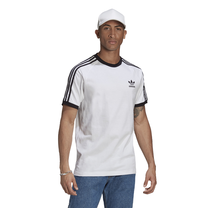 Camiseta Adidas Adicolor 3 Stripes Branca