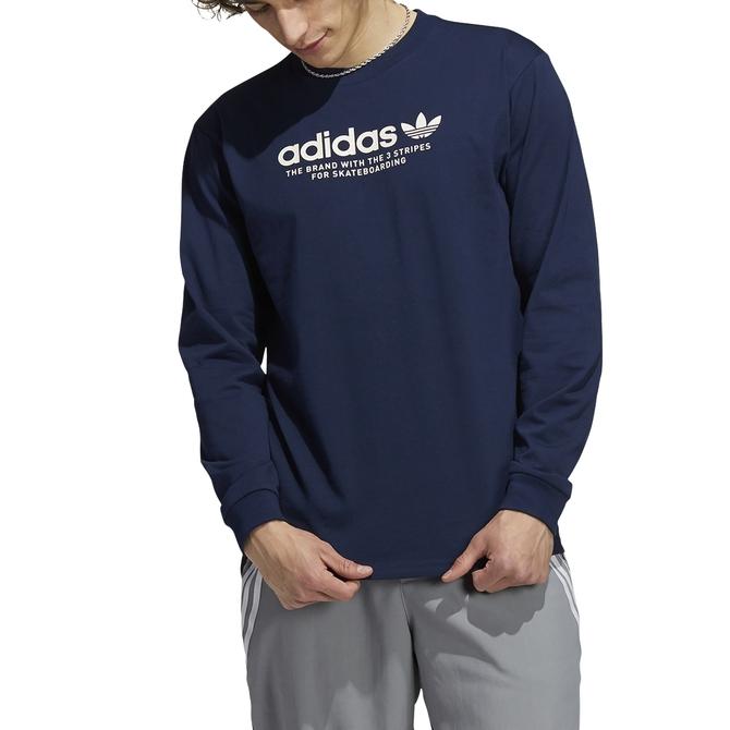 Camiseta Adidas Manga Longa 4.0 Logo Tee Azul