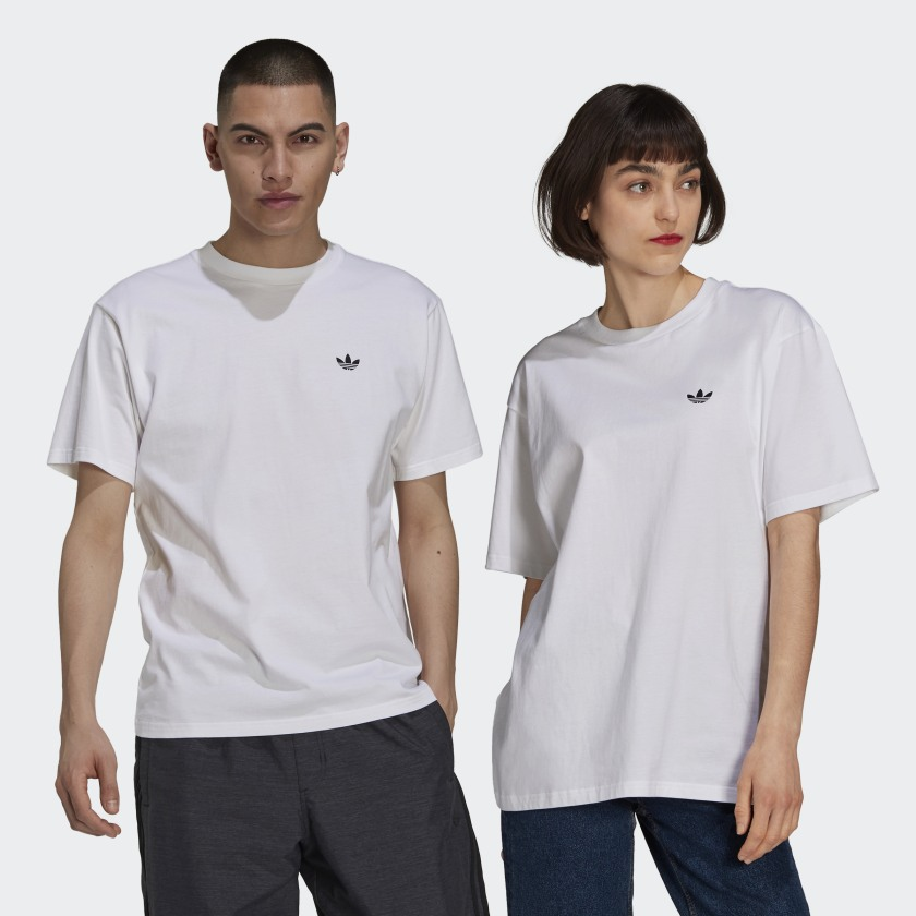 Camiseta Adidas Skateboarding 4.0 Logo White/Black