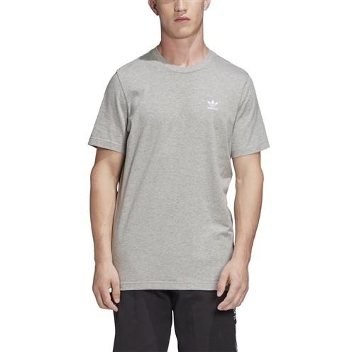 Camiseta Adidas Trefoil Essentials Cinza Mescla