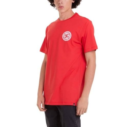 Camiseta DC Basica M/C Circle Star FB Vermelha