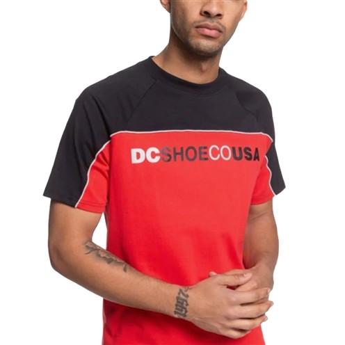 Camiseta DC Brookledge Tee Preta/Vermelha