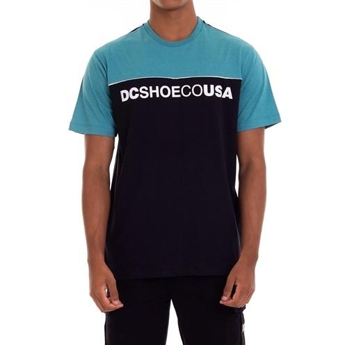 Camiseta DC Shoes Grid Block Azul/Preta