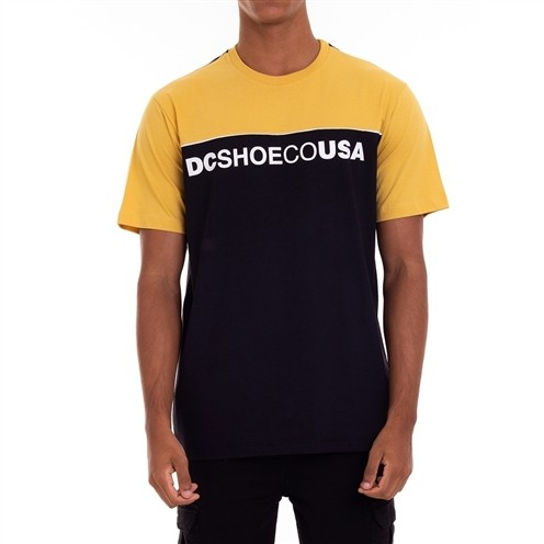 Camiseta DC Shoes Grid Block Mostarda/Preta