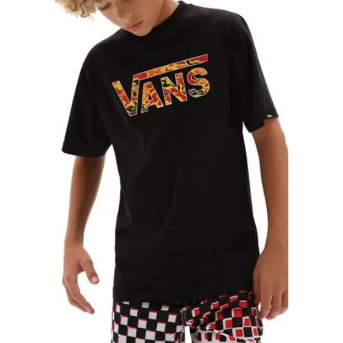 Camiseta Vans Boys Classic Logo Black/Flame