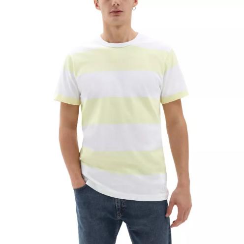 Camiseta Vans Gibson Stripe White-Tender Yellow