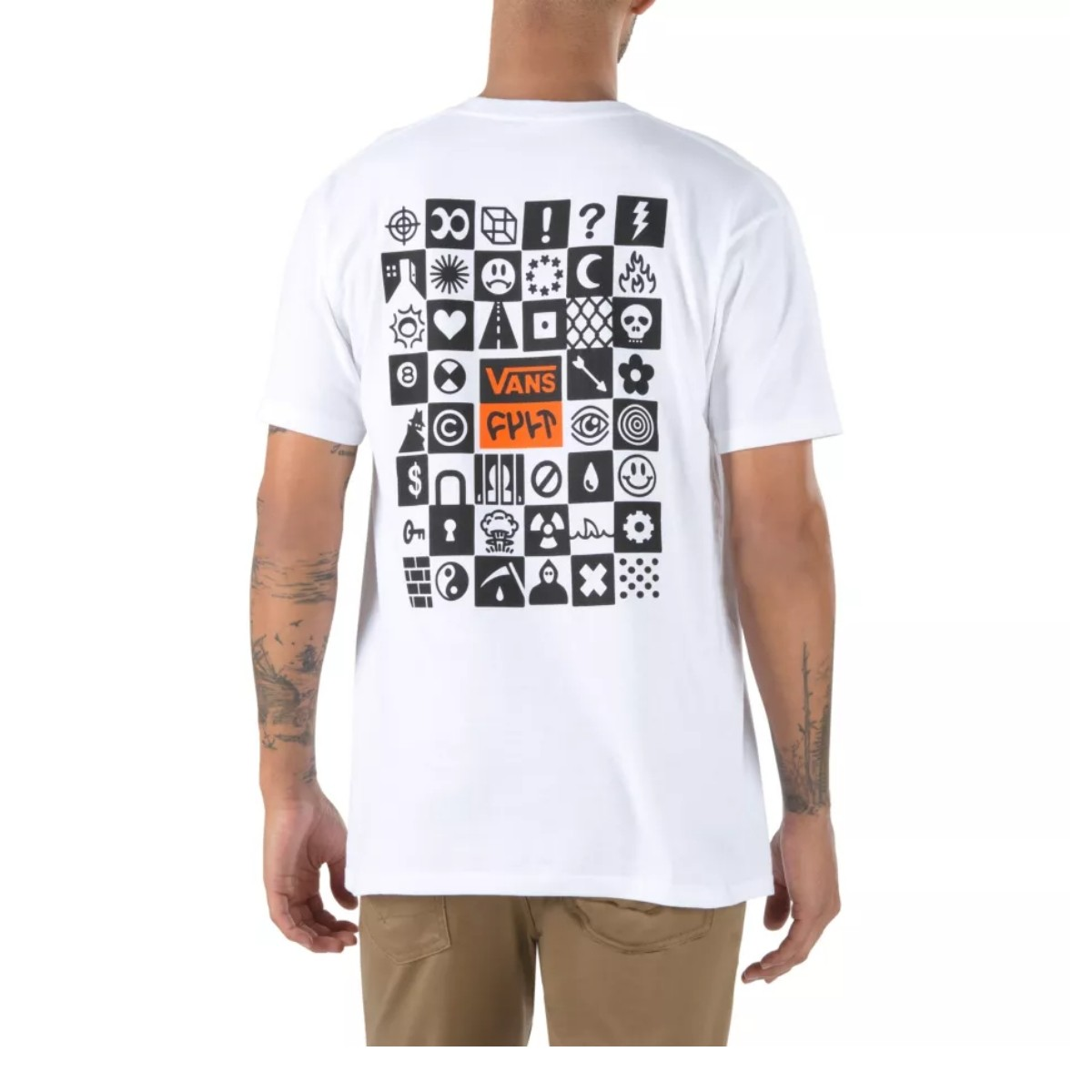 Camiseta Vans x Cult BMX White