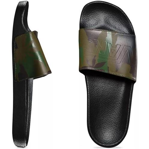 Chinelo Vans Slide ON Peace Leaf Camo-Black