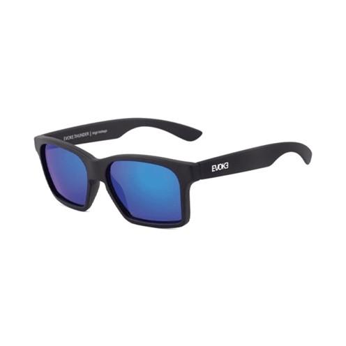 Óculos Evoke Thunder A14S Black Matte Sukver Blue Mirror