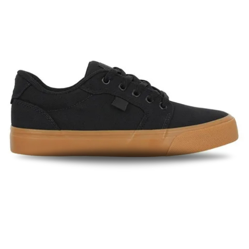 Tênis DC Shoes Anvil TX LA Black/Black/Gum