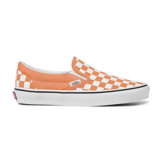 Tênis Vans Classic Slip On (Checkerboard) Laranja