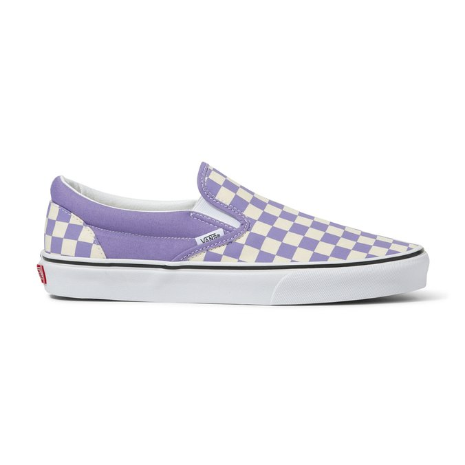 Tênis Vans Classic Slip On (Checkerboard) Roxo