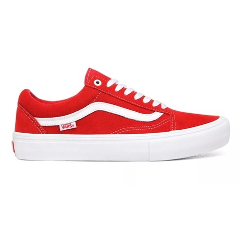Tênis Vans Old Skool Pro (Suede) Vermelho/Branco