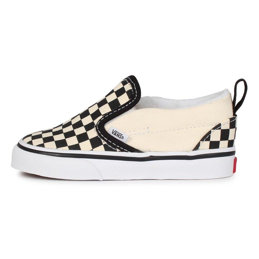 Tenis Vans Toddler Slip On V Checkerboard Black/White
