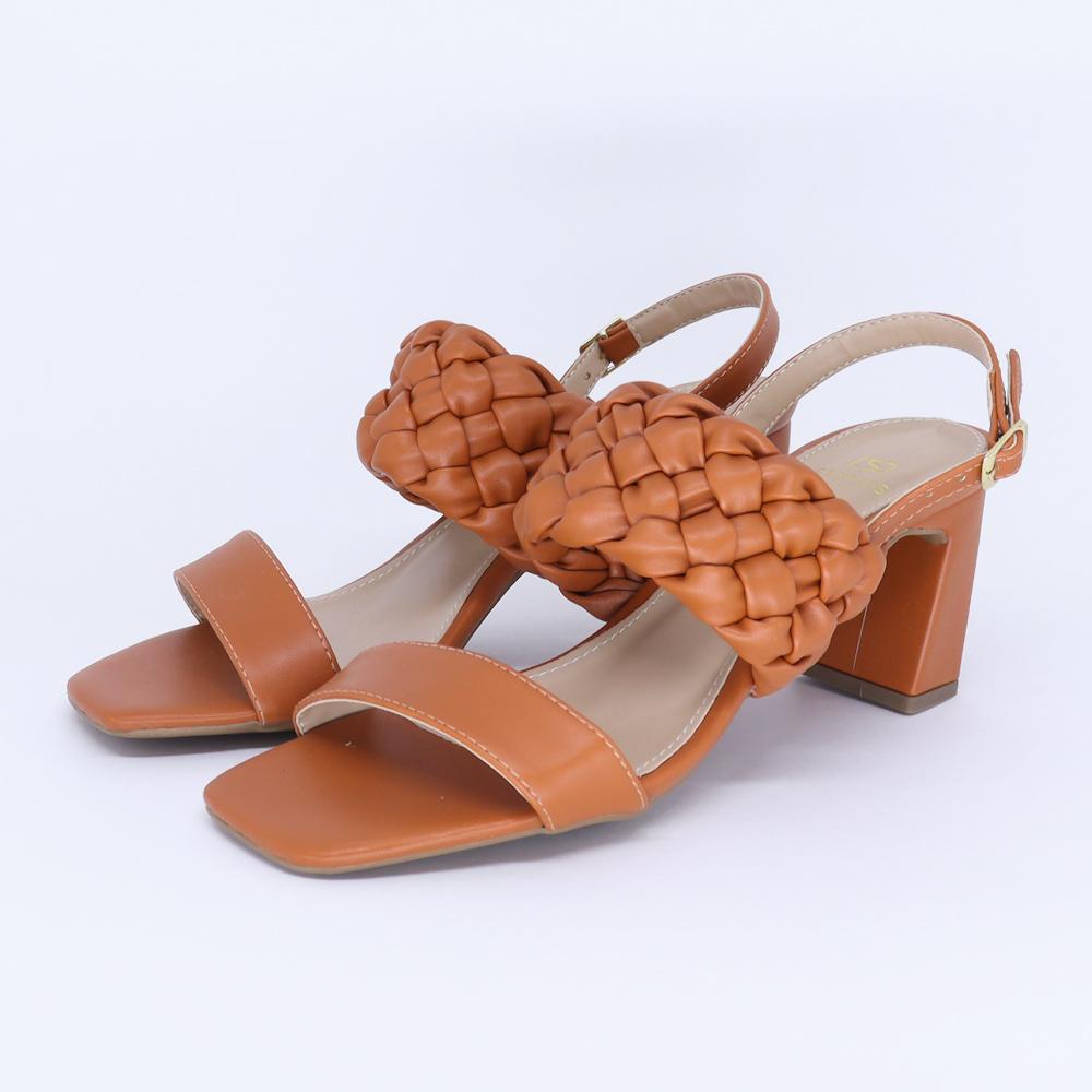 Sandália Salto Trançada