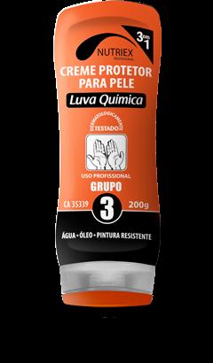 CREME PROTECAO PELE LUVA QUIMICA GR 3 200G NUTRIEX 0062133