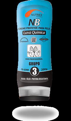 CREME PROTECAO PELE LUVA QUIMICA GR 3 NB 200G NUTRIEX 0063651