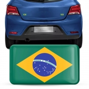 Adesivo Resinado Bandeirinha Brasil 5x8cm