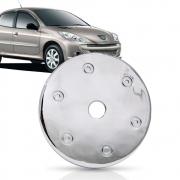 Aplique Cromado Tampa Tanque Combustível Peugeot 207 2009/2015