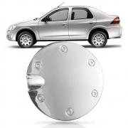 Aplique Cromado Tampa Tanque Combustível Prisma 2006/2012